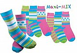 "Anti-Rutsch-Socken ""Maxi-Mix"" mit individuellem Namens-ABS für Kinder"