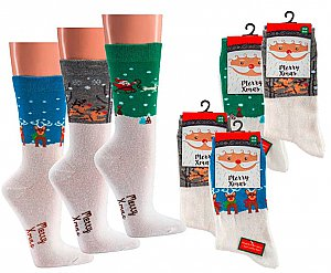 "Damensocken ""Merry Christmas"" mit Namens-ABS"