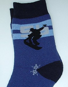 "Thermo-Socken ""Boy & Girl"" - Snowboard marine"