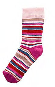 "ABS-Thermo-Socken ""Ringel"" mit Namen - rosé"