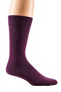 "Herrensocken ""Color Your Life"" mit individueller Anti-Rutsch-Beschichtung - aubergine"